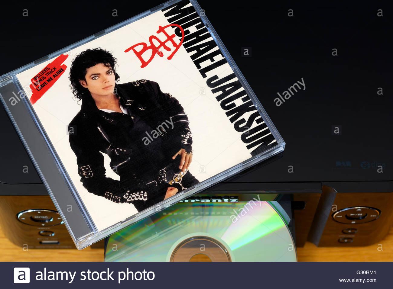 michael jackson album bad music centre and cd case england stock