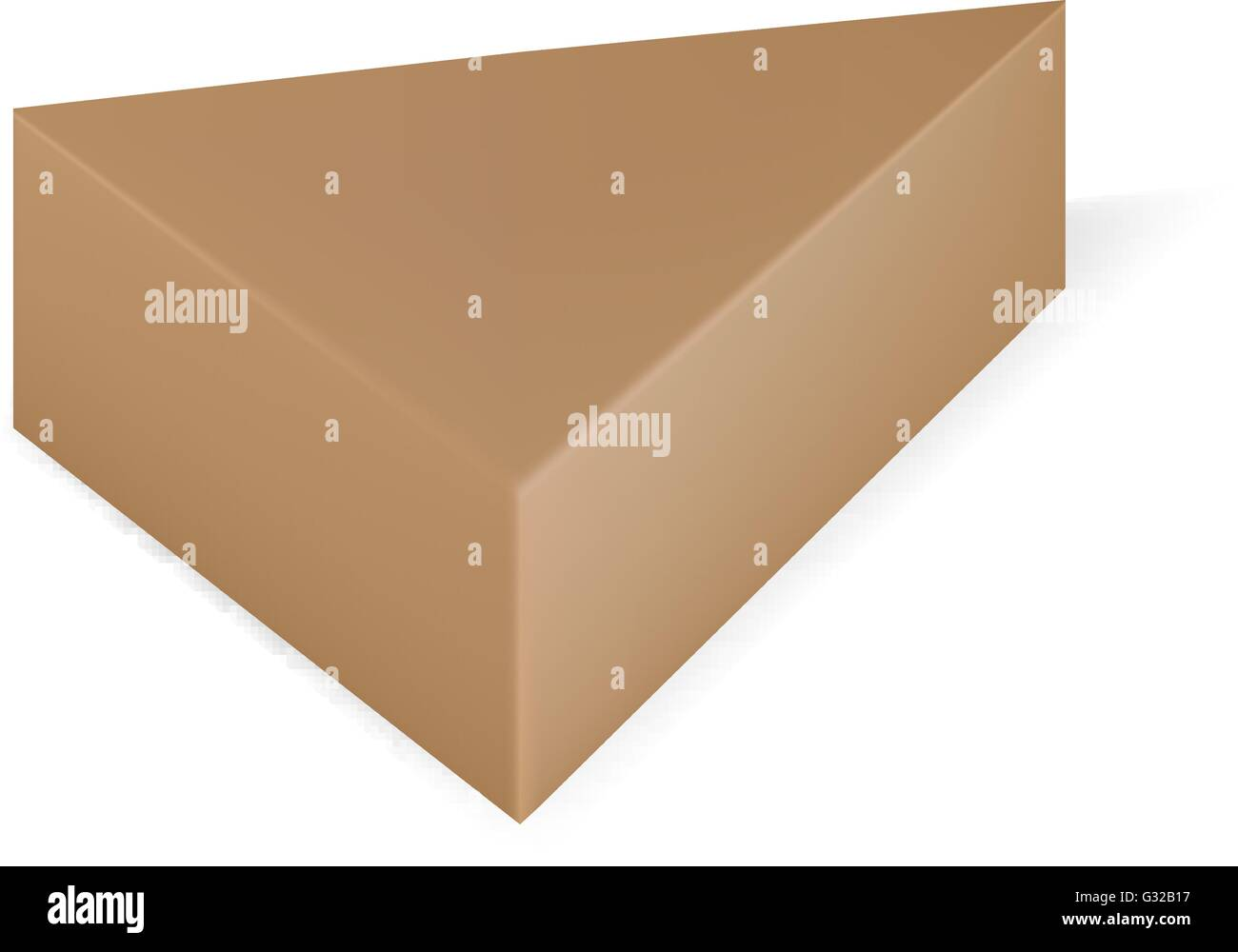 VECTOR PACKAGING Brown Triangle Packaging Box On Isolated White Background Mock Up Template Ready For Design