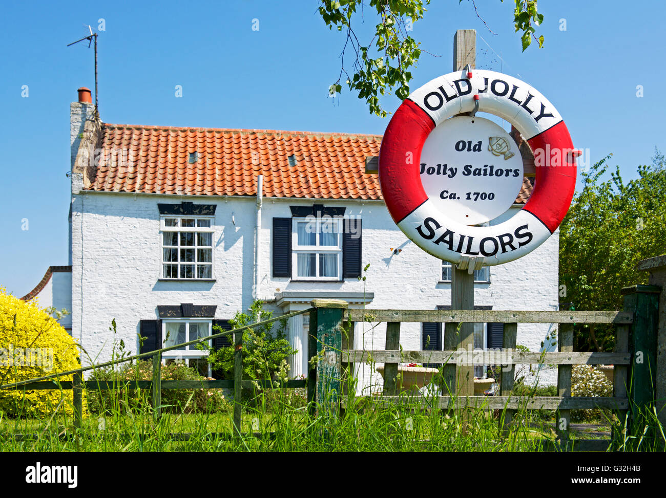 House - once the Jolly Sailor pub - at Fishtoft, near Boston, Lincolnshire, England UK - Stock Image
