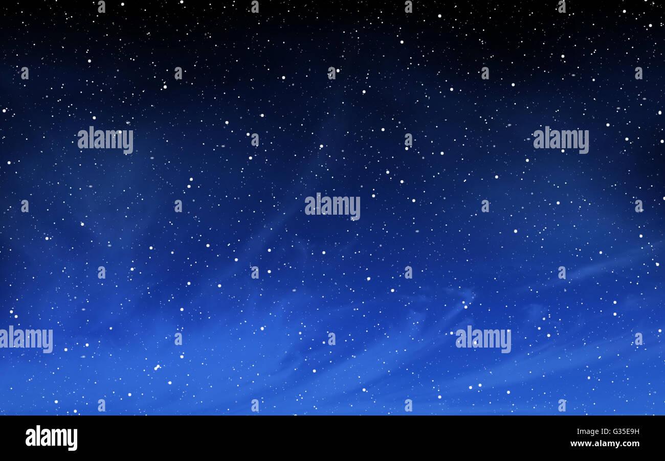 Deep night sky with many stars background - Stock Image