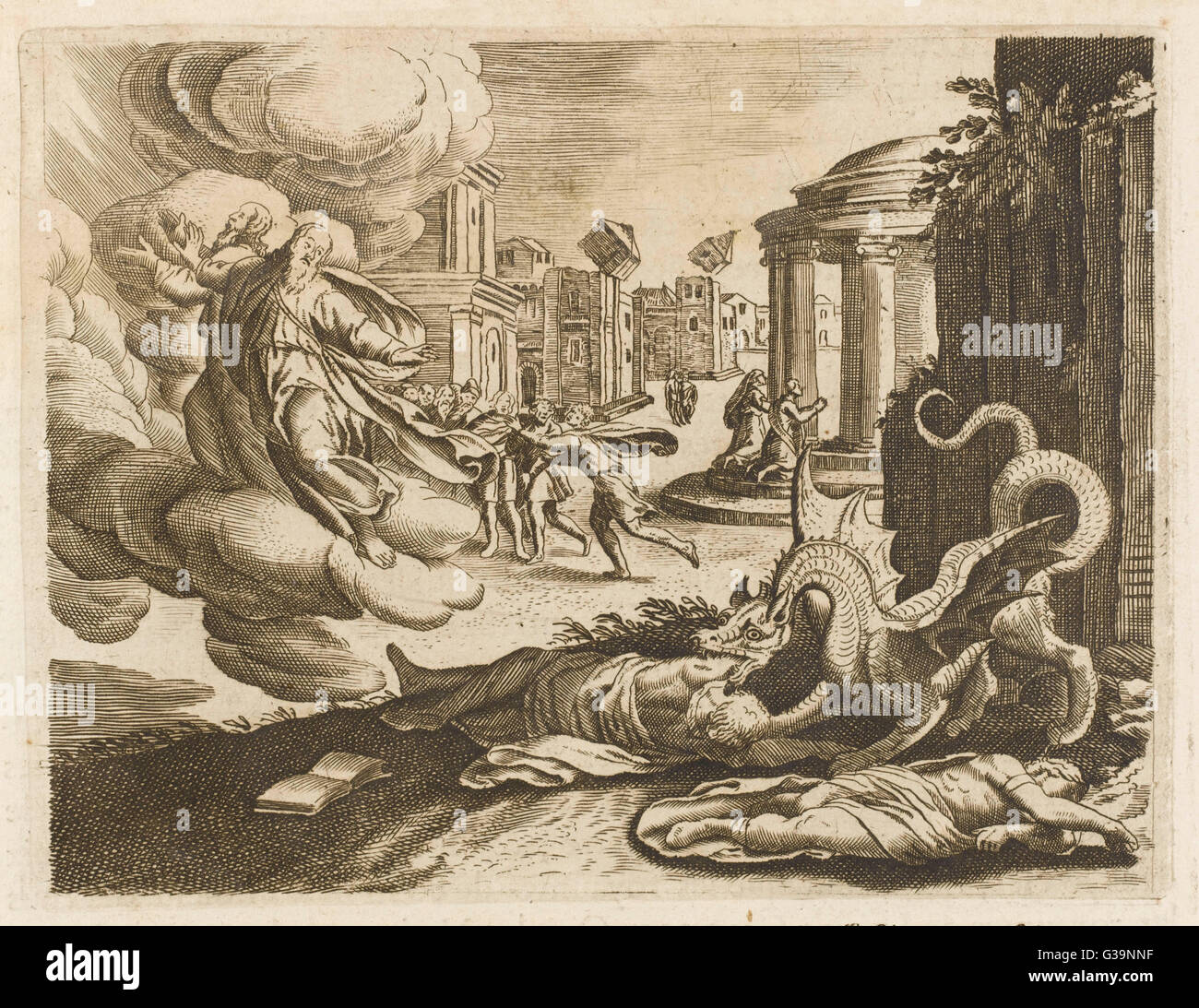 The dragon of the Apocalypse - Stock Image