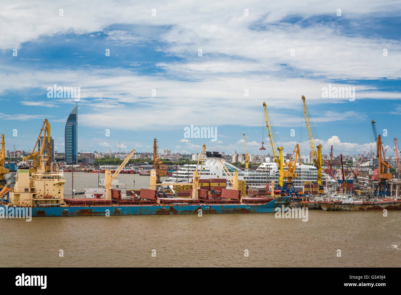 The port in Montevideo, Uruguay, South America. - Stock Image