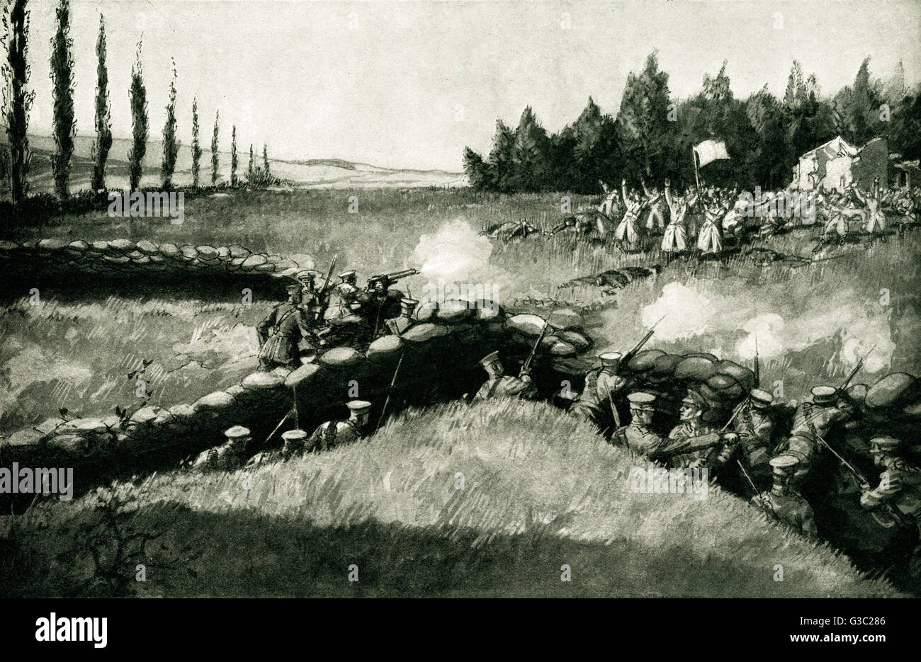 WW1 - A scene during the fighting at St. Julien on the Western Front. As reported by the 90th Winnipeg Rifles, the - Stock Image