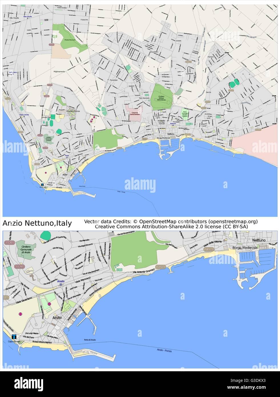 Anzio nettuno italy city map stock vector art illustration vector anzio nettuno italy city map thecheapjerseys Choice Image