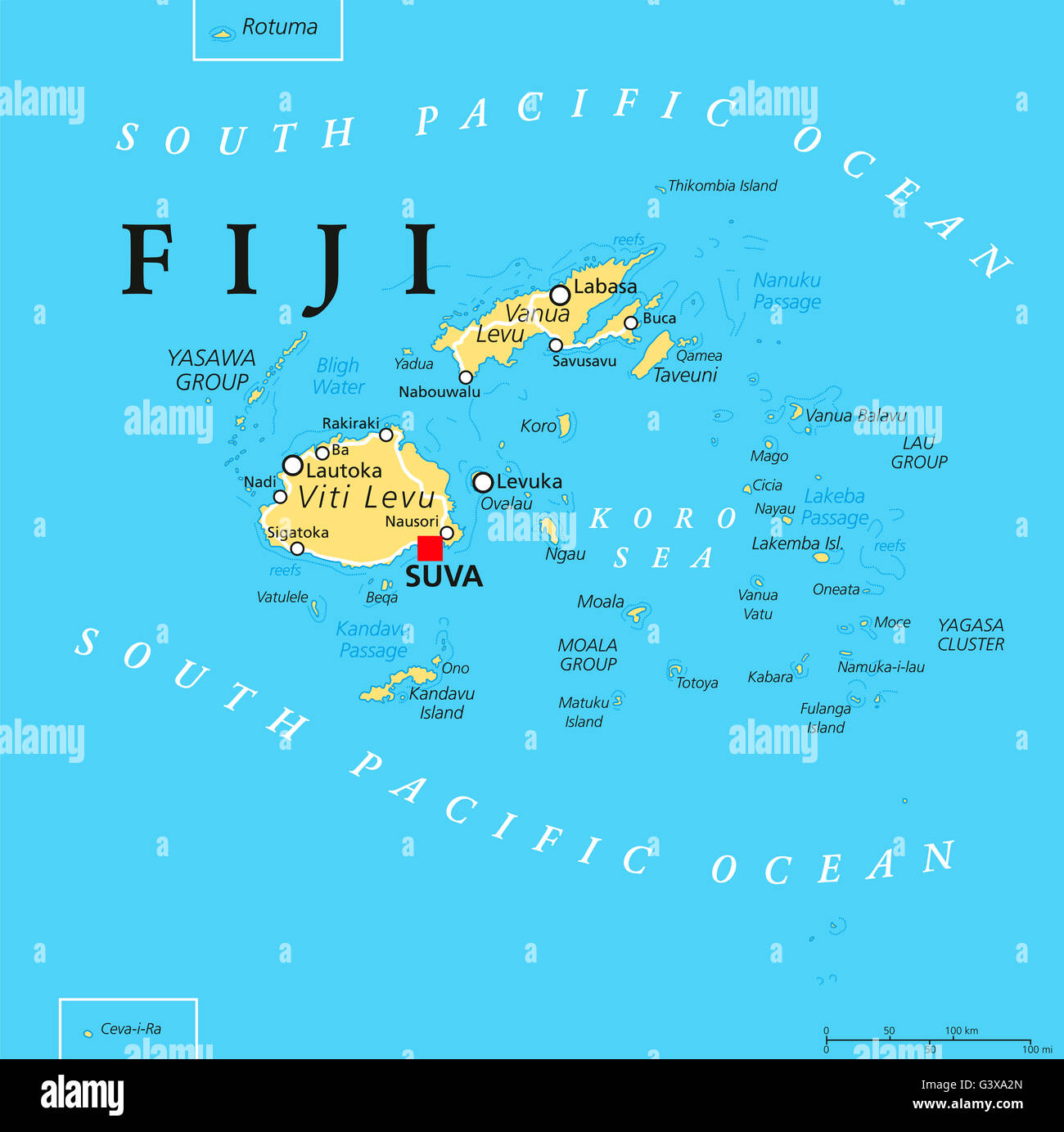 fiji political map images