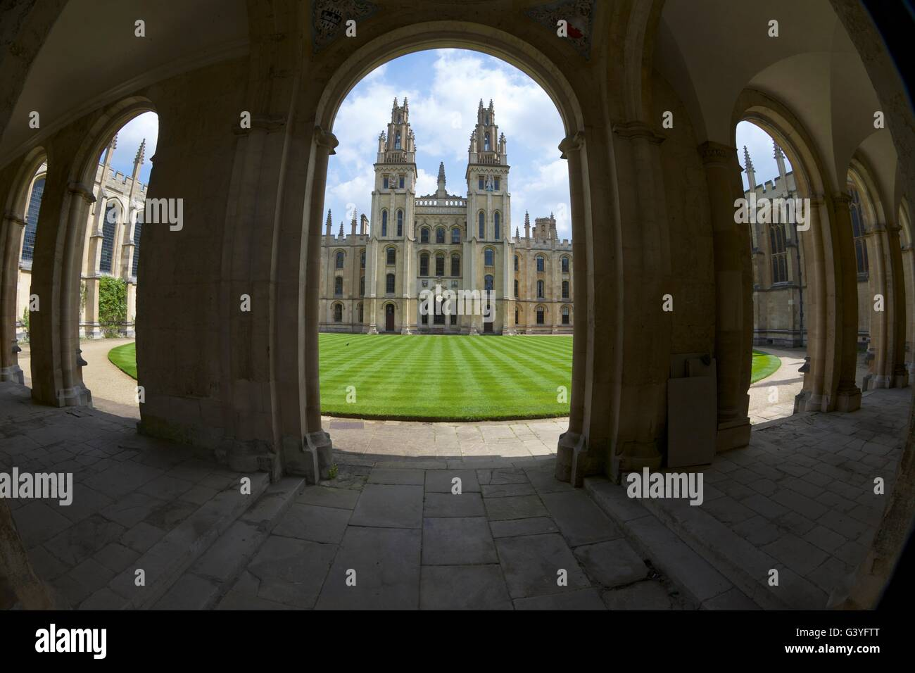 All Souls College, Oxford University Campus, Oxfordshire, England, United Kingdom, Europe - Stock Image