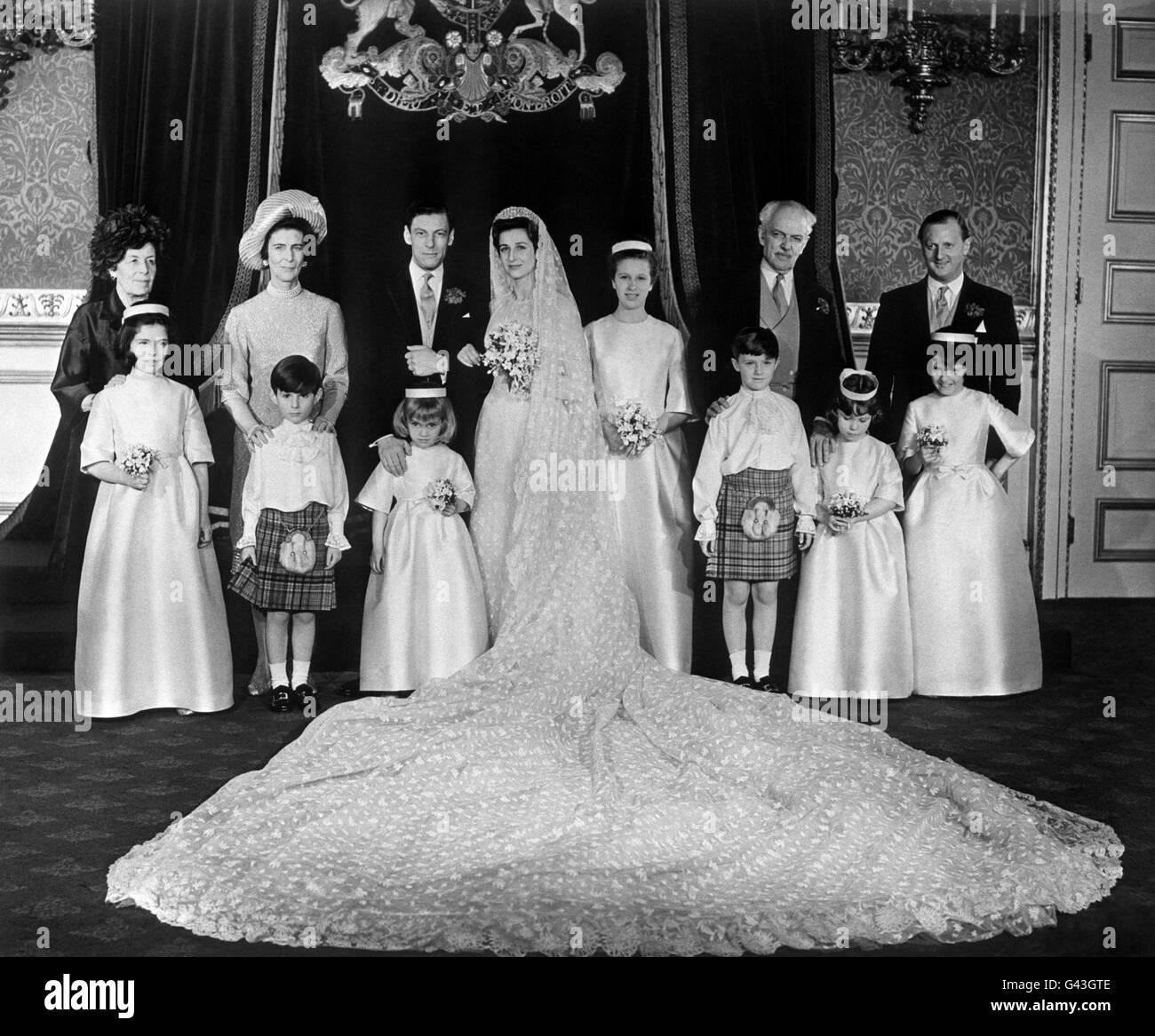 Royalty - Princess Alexandra and Angus Ogilvy Wedding - London Stock ...