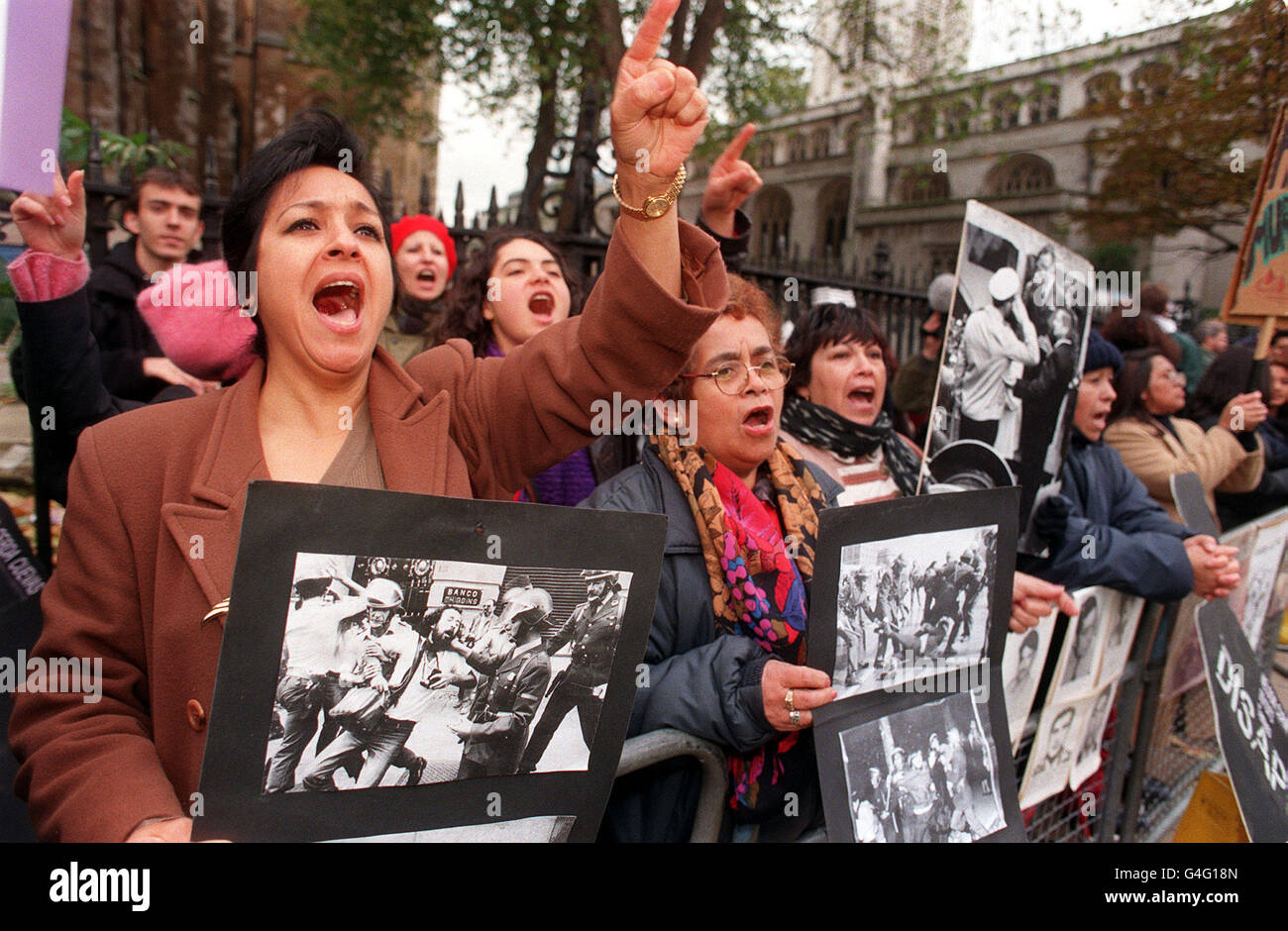 POLITICS Pinochet protest /Lords Stock Photo