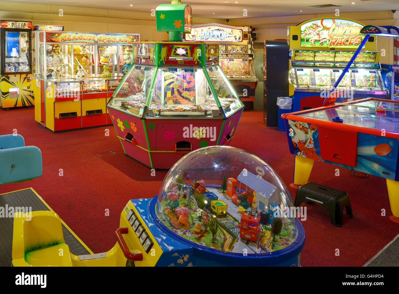 Amusement arcade games - Stock Image