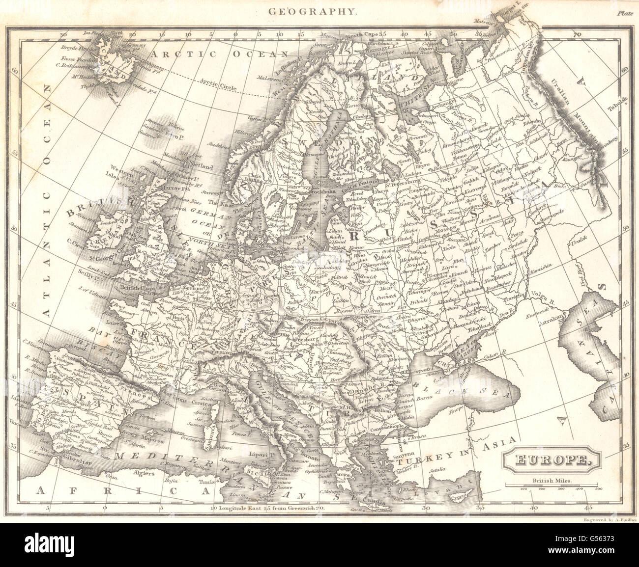 Europe Showing Austrian States Prussia Russia Etc 1830 Antique