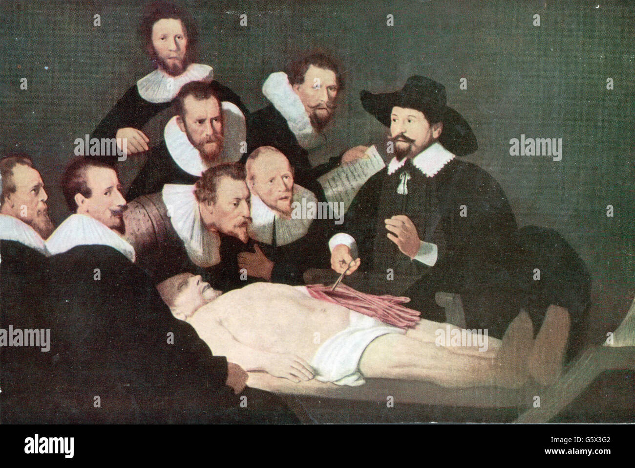 THe Anatomy Lesson of Dr. Nicolaes Tulp by Rembrandt van Rijn, 1632 ...