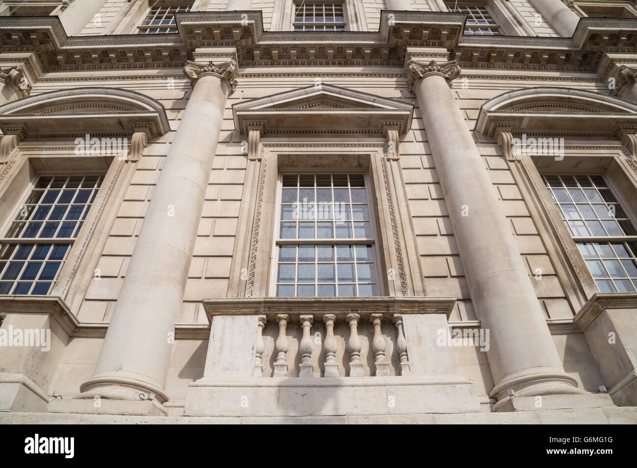 Close Up Exterior Of The Banqueting House On Whitehall London Stock
