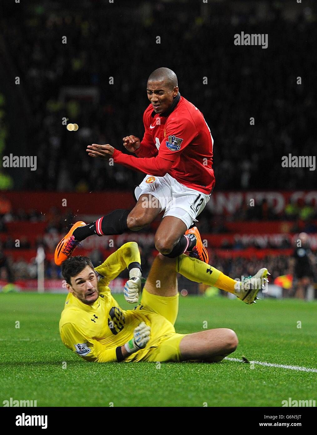 Soccer - Barclays Premier League - Manchester United v Tottenham Hotspur - Old Trafford - Stock Image