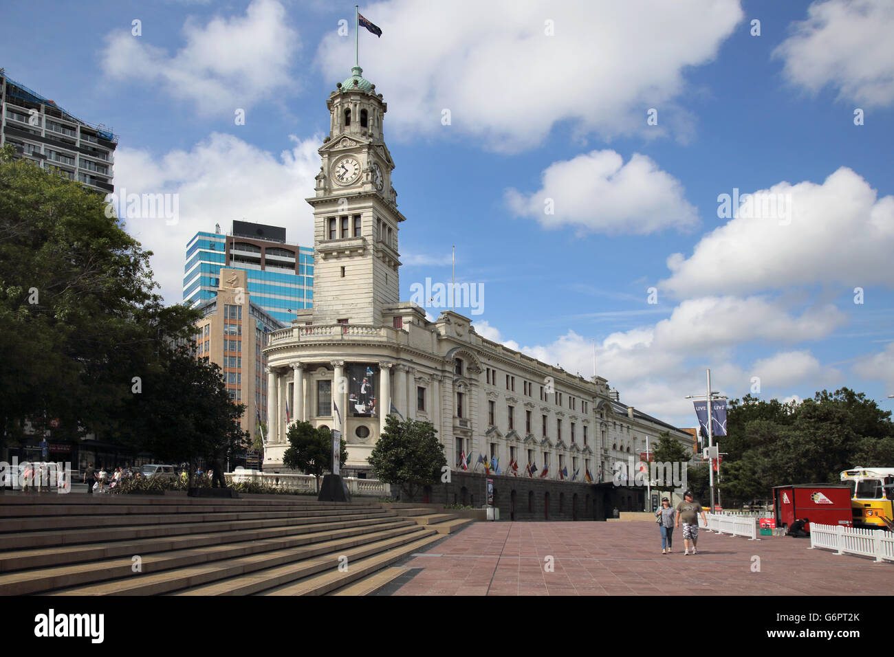 auckland town hall new zealand Stock Photo
