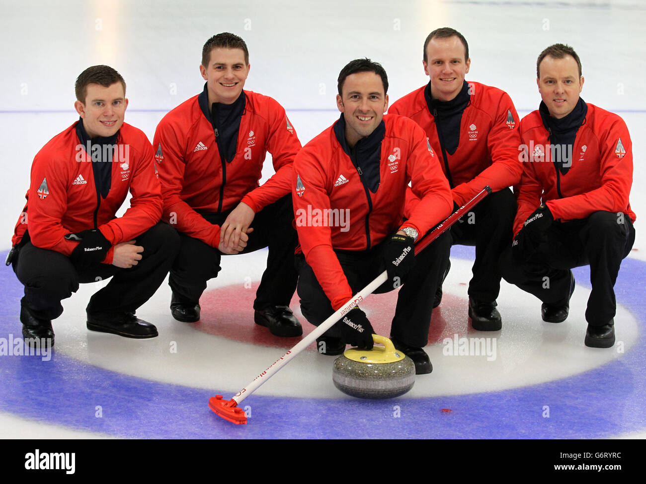 Winter Olympics - Team GB Curling Teams Prepare for Sochi - The Peak Stock Photo