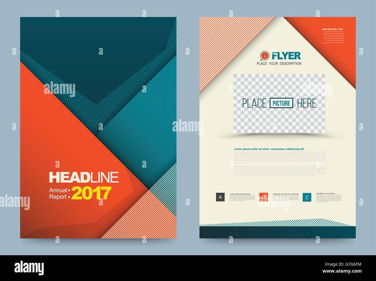 cover template design for business annual report flyer brochure, Template Presentation Brochure, Presentation templates