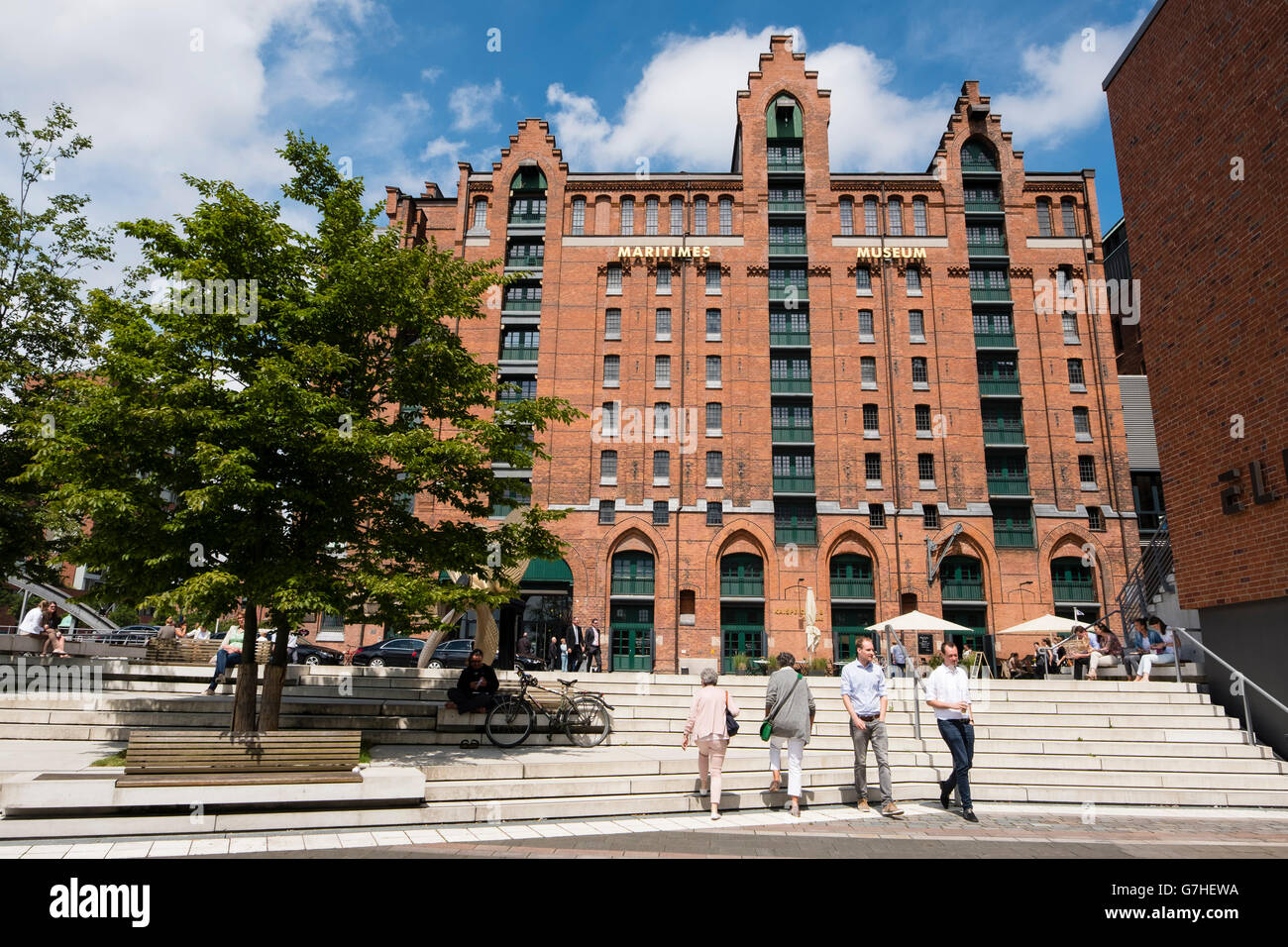 View of  International Maritime Museum in Hamburg Germany - Stock Image