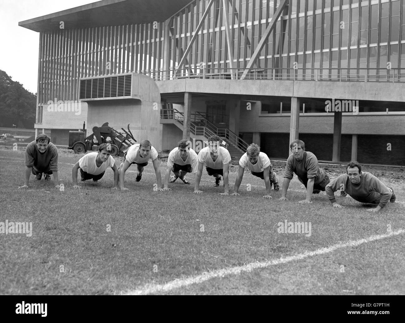 Soccer - Crystal Palace Training - National Recreation Centre, Crystal Palace, London - Stock Image