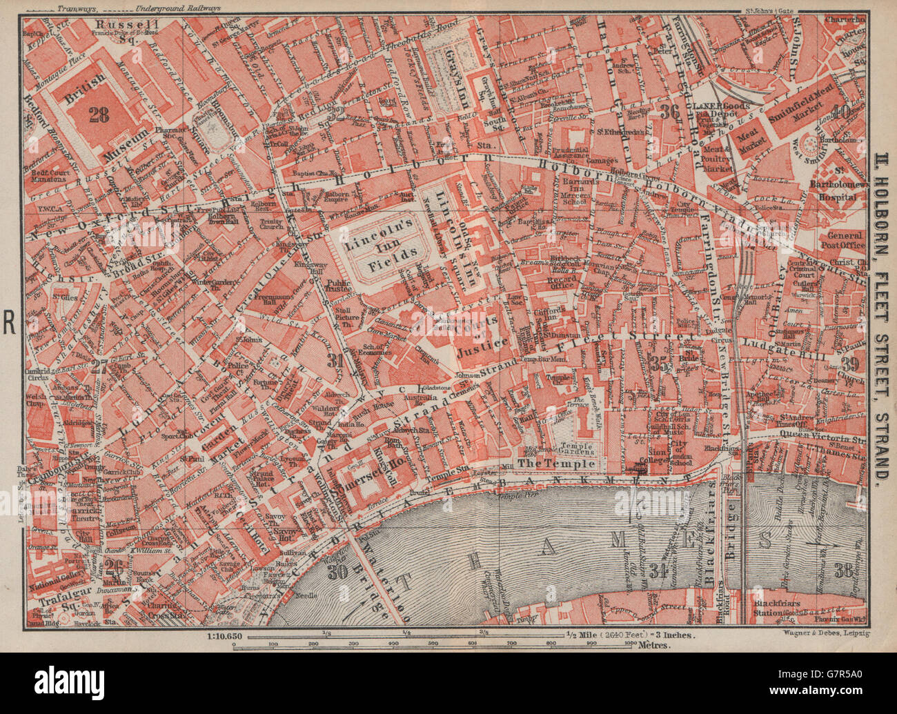 London Street Map 19th Century Stock Photos London Street Map 19th