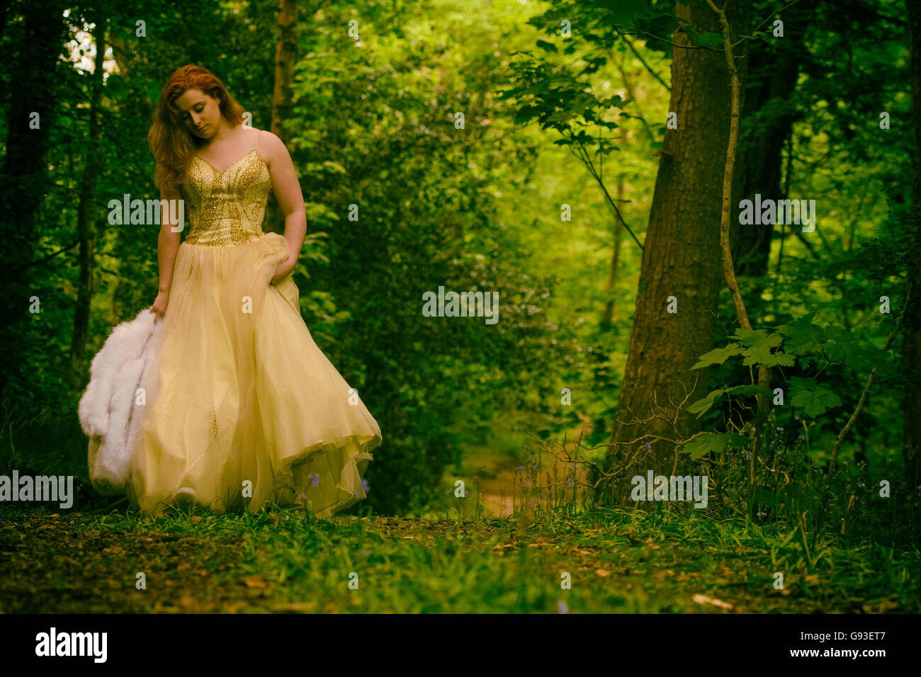 Green Ball Gown Photography