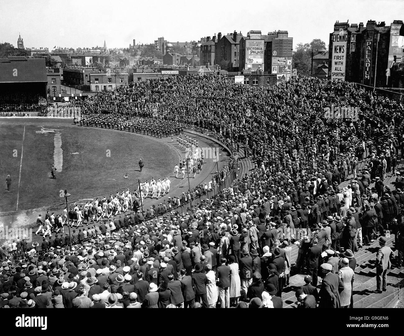 Athletics - British Games - Parade Of Athletes - London - 1931 Stock Photo