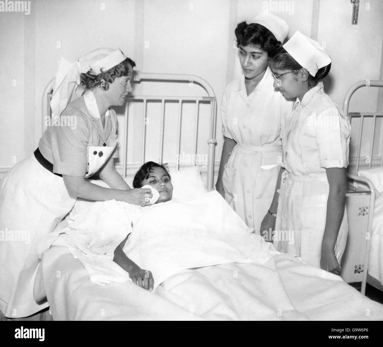 Attractive Health   Nursing Training   Blanket Bed Bath   Mount Vernon Hospital   1956