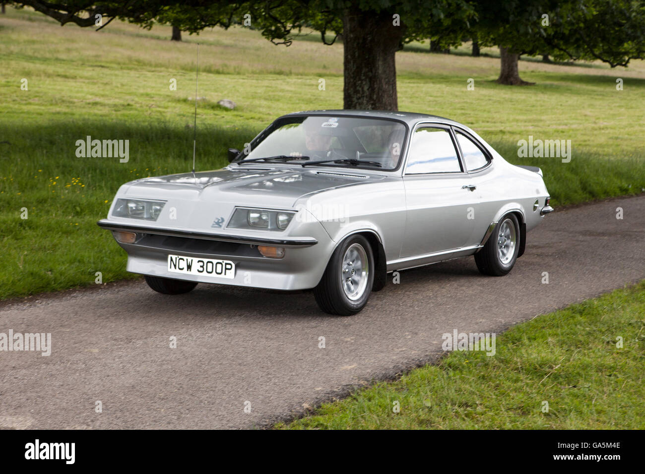 Silver Vauxhall Firenza 2279 dn at Leighton Hall Classic Car Rally,  Carnforth, Lancashire, UK. 3rd July, 2016. The annual classic car rally  takes place at ...