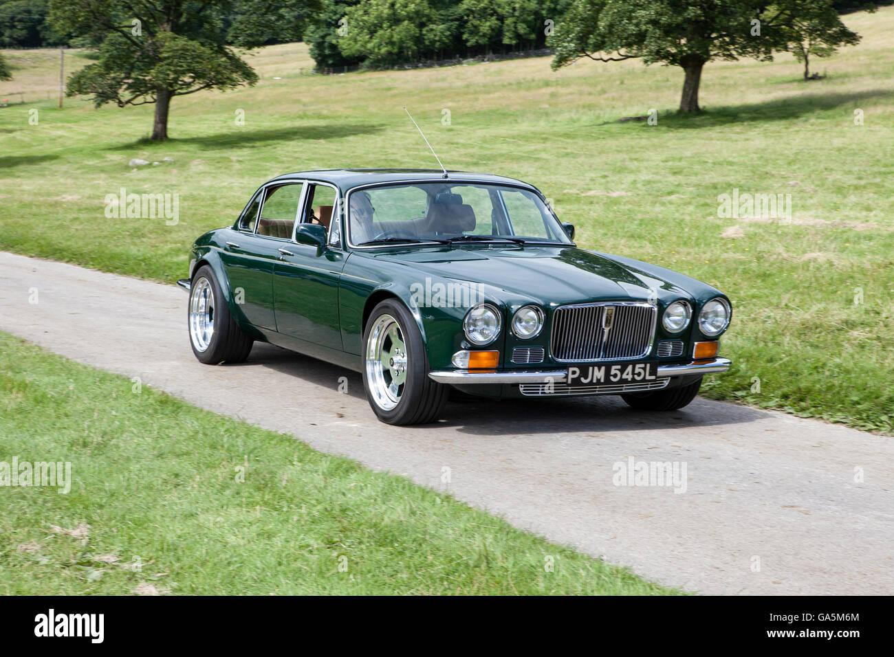 Jaguar At Leighton Hall Classic Car Rally Carnforth Lancashire Uk