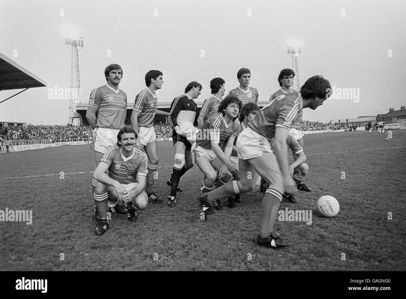 International Soccer - Wales v England - Wrexham Stock Photo
