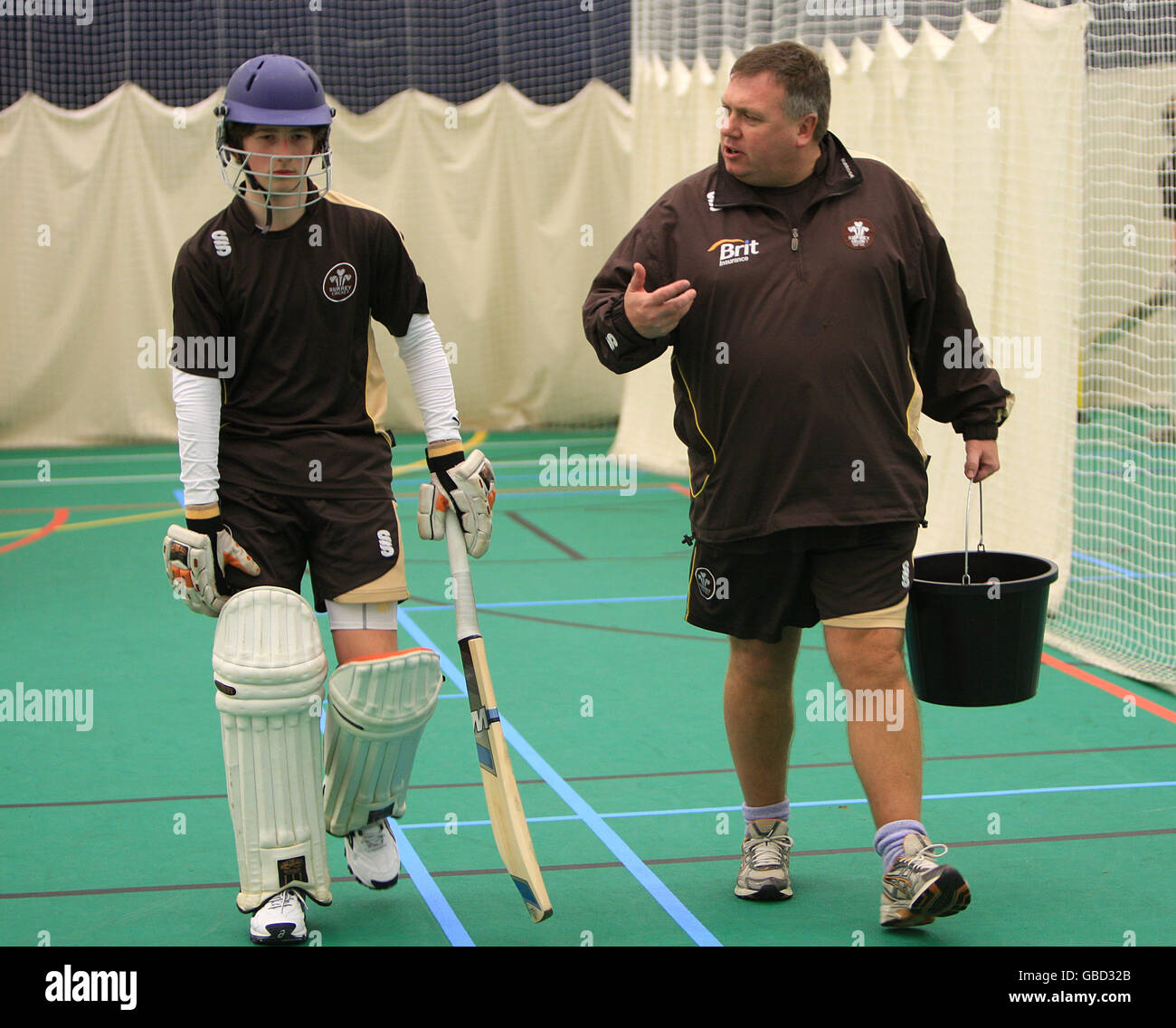 Cricket - Media Open Evening - Pemberton Greenish Surrey Academy - Stock Image