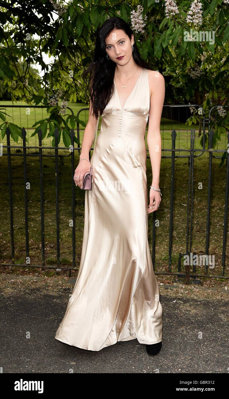 London, UK . Matilda Lowther at The Serpentine Gallery Summer Party at Kensington Gardens London. 6th July 2016 Stock Photo