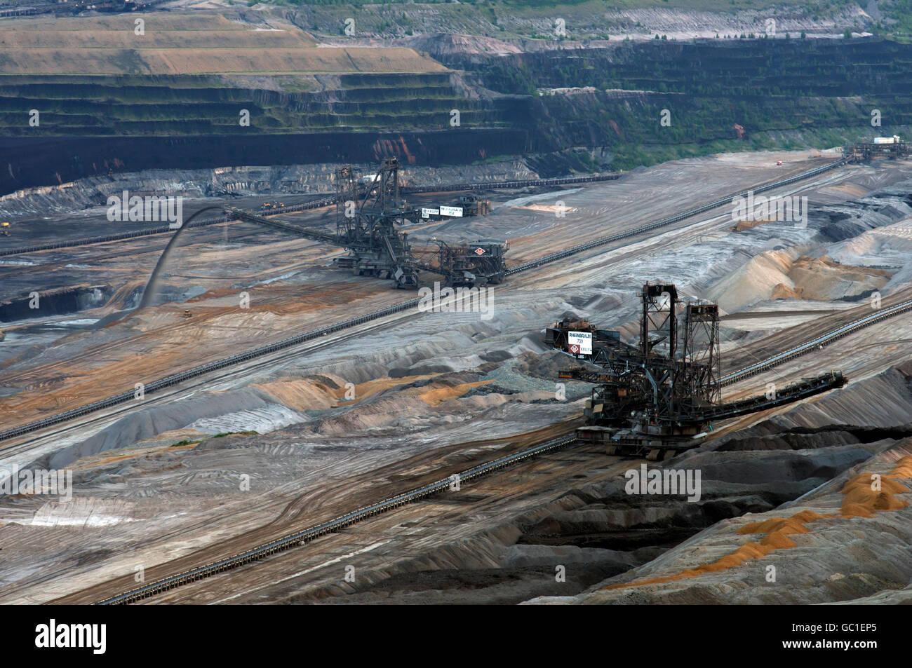 Hambach surface lignite mine Elsdorf, North Rhine-Westphalia, Germany. - Stock Image