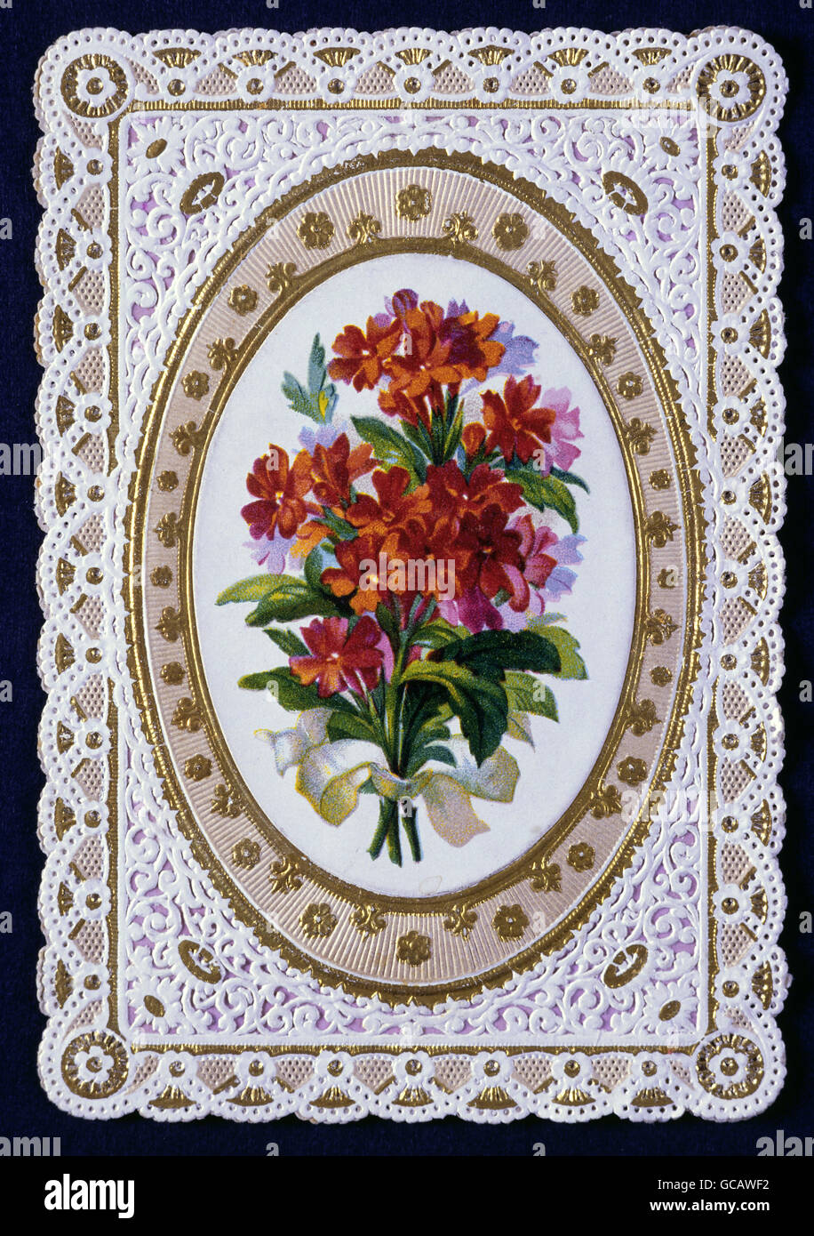 Fine Arts Paper Greeting Cards Embrossed Colour Lithograph Late
