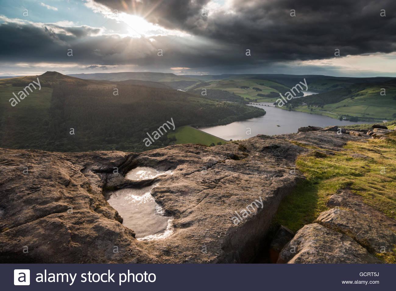 Bamford Edge Storms - Stock Image