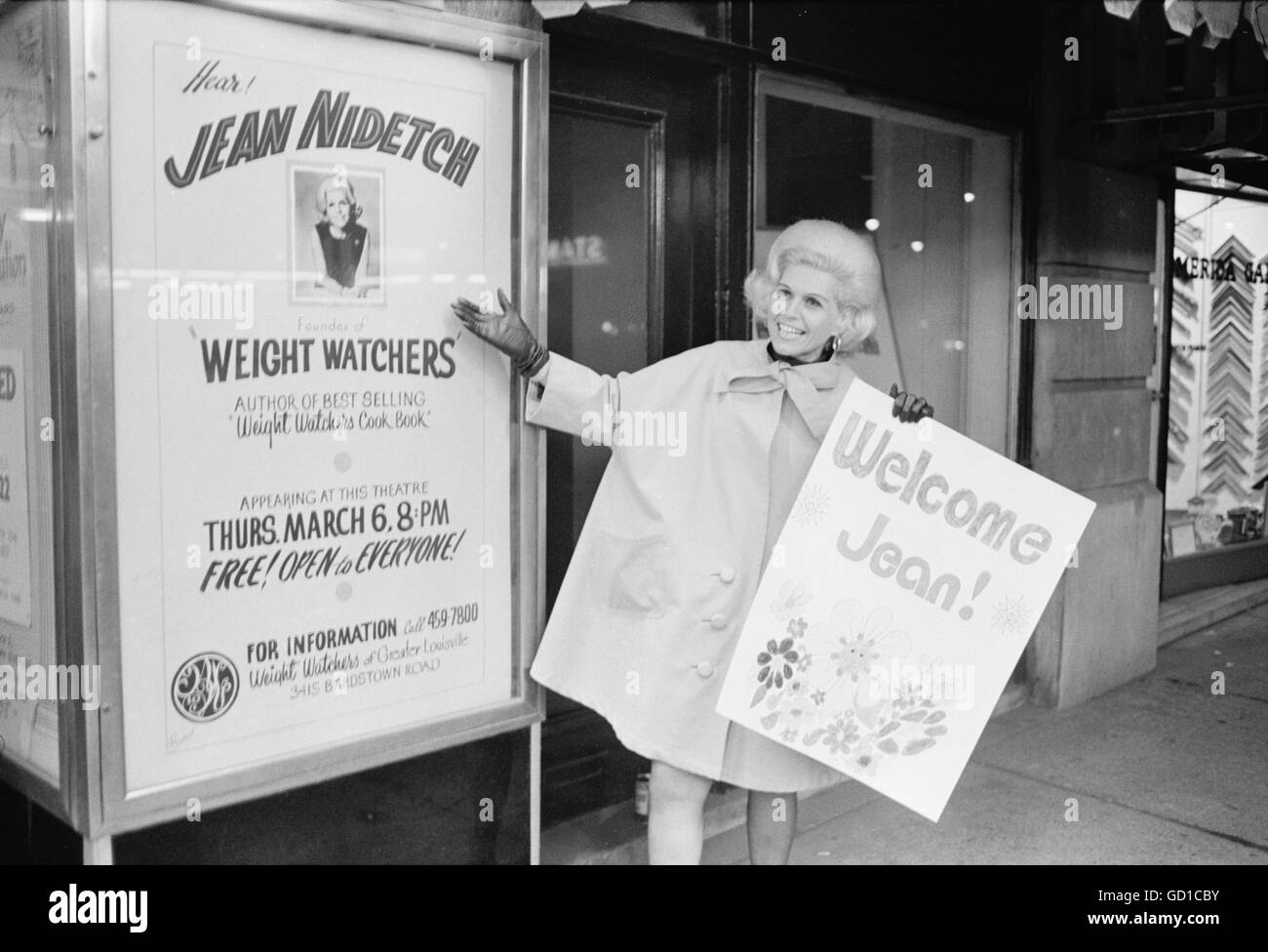 Jean Nidetch, co-founder of Weight Watchers Stock Photo