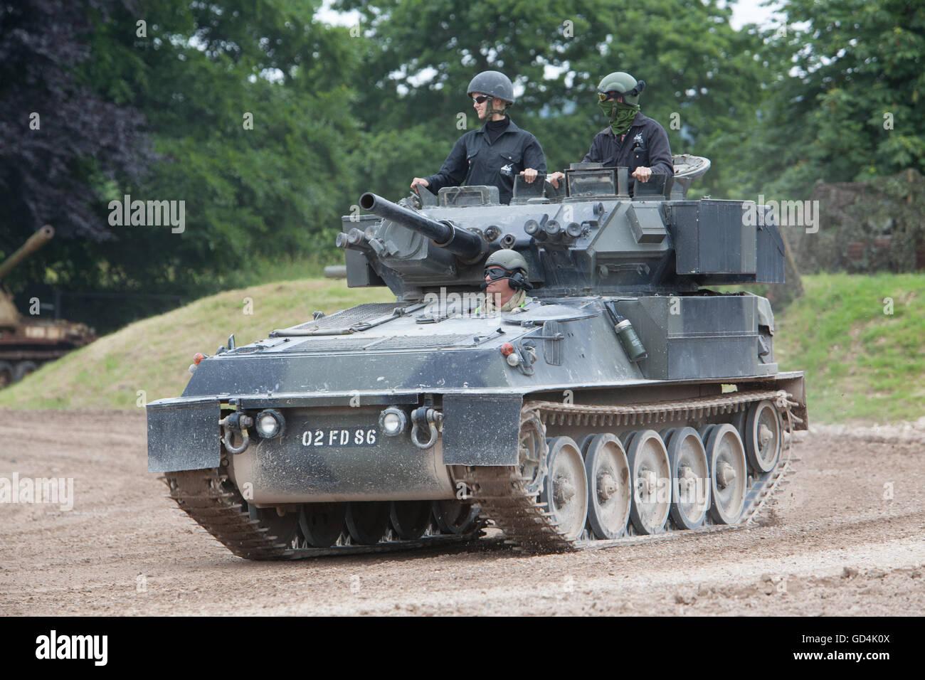 Tankfest, bovington, 2016 CVR(T) Scorpion Tank - Stock Image
