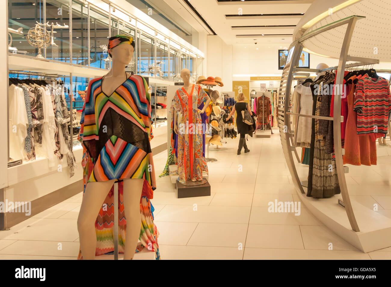 Harrods Store, Terminal 5, Heathrow Airport. London Borough of Hounslow, Greater London, England, United Kingdom - Stock Image