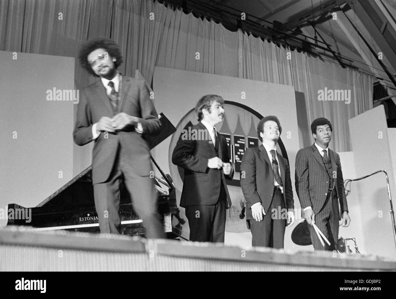 Charles Lloyd, Keith Jarrett, Jack DeJohnette, and Ron McClure - Stock Image