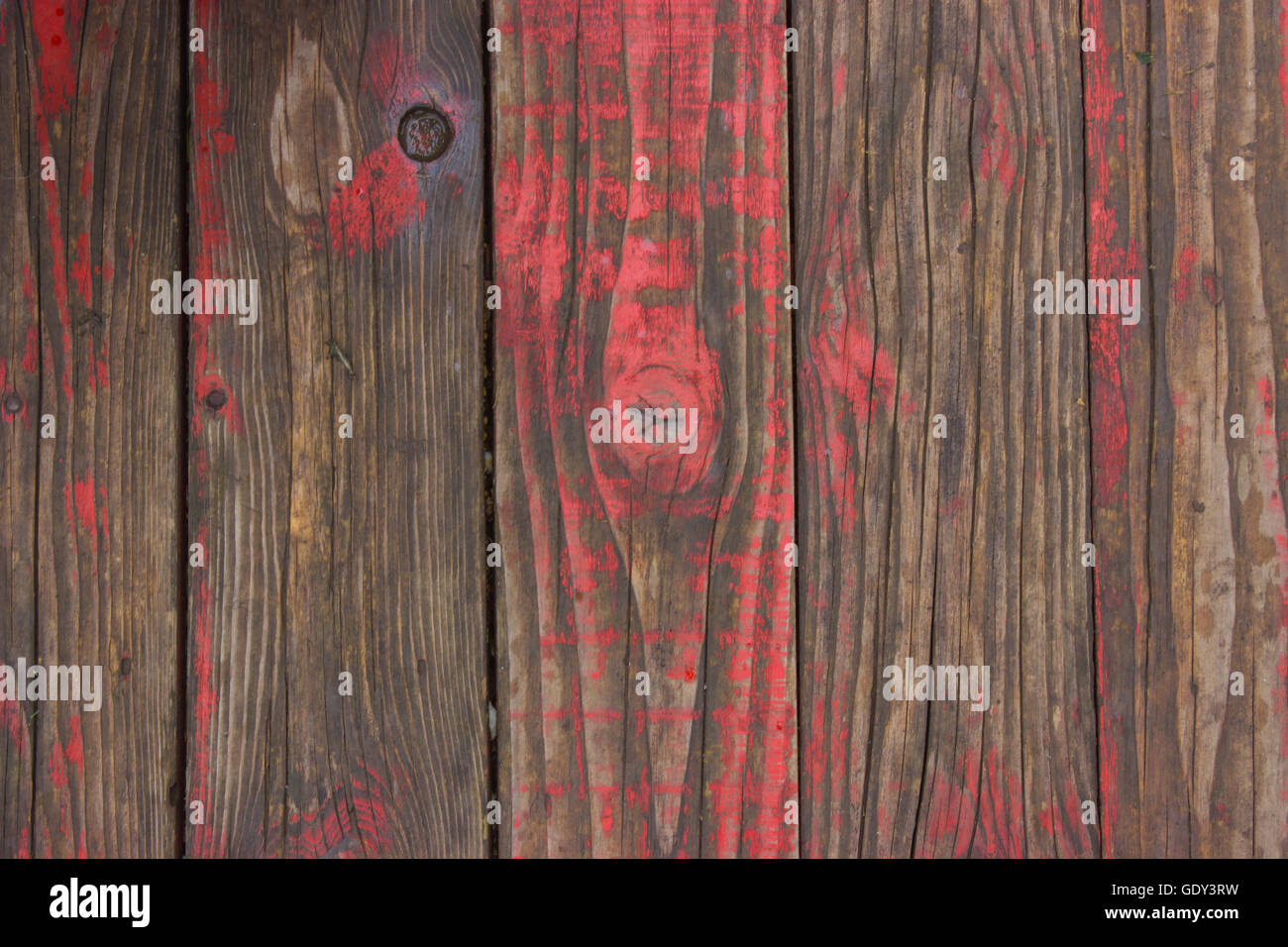 Painted Red Old Wooden Floor Texture Rustic Background