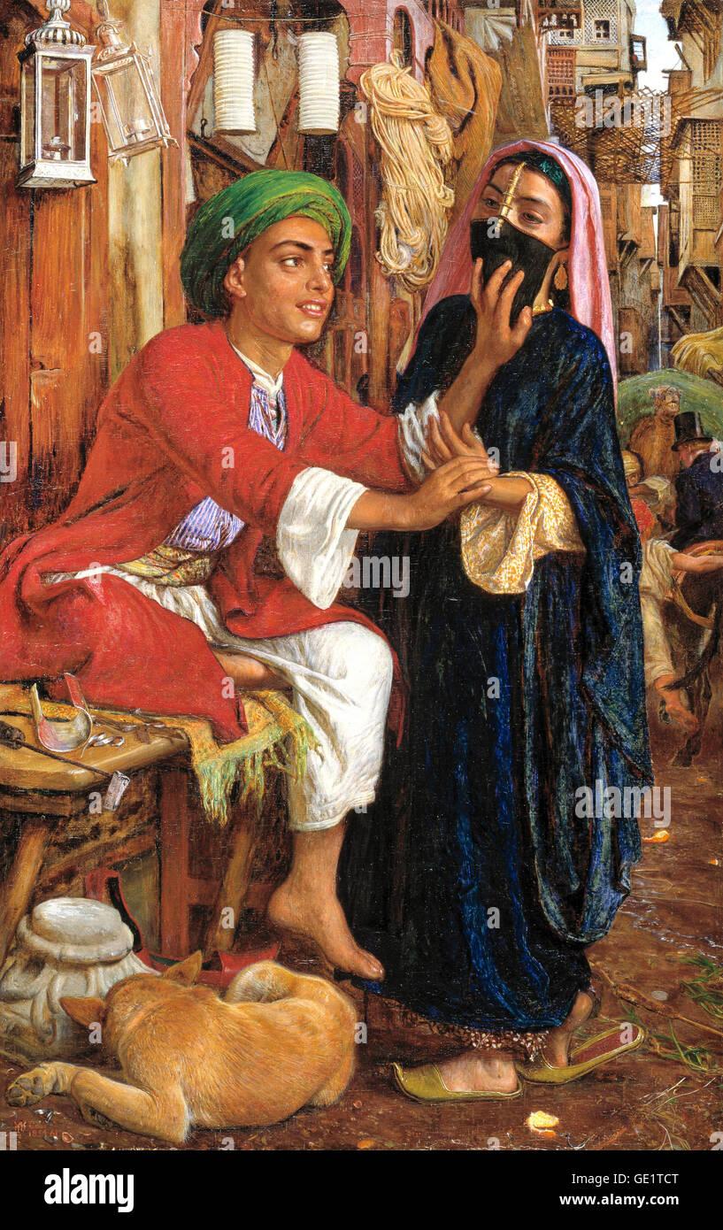 William Holman Hunt, Street Scene in Cairo: The Lantern Maker's Courtship. 1854-1861 Oil on canvas. - Stock Image