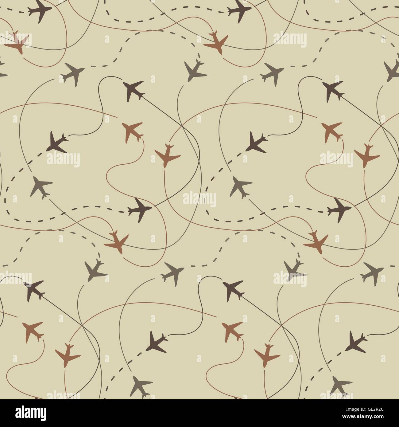 Travel And Vacation Background Pattern Vector