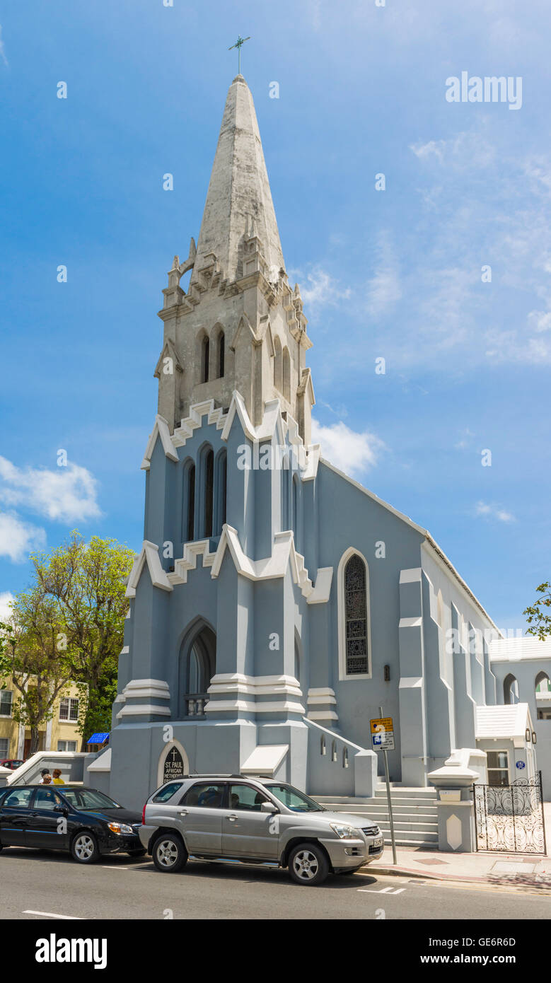 St. Paul African Methodist Episcopal (AME) Church in Hamilton, Bermuda, is known as the 'Cathedral of African - Stock Image