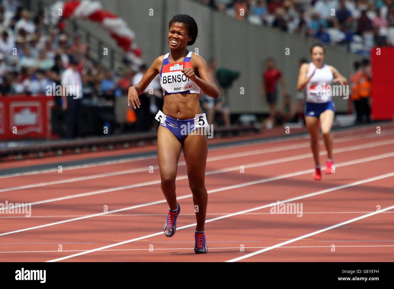 Johanna benson of namibia winning the 400 metres women t37 2016