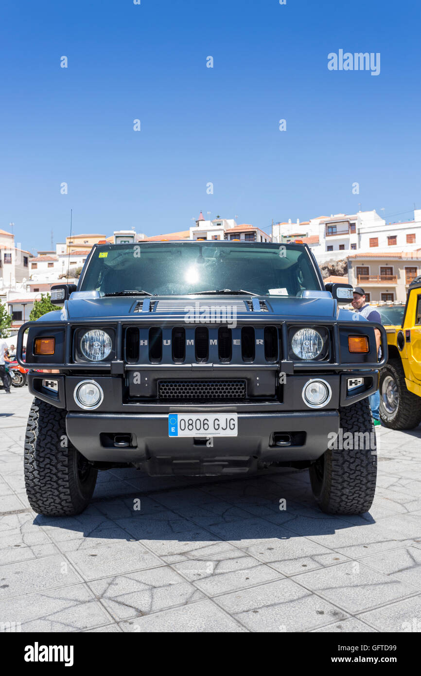 General Motors Hummer SUV in the Plaza in candelaria, tenerife Stock