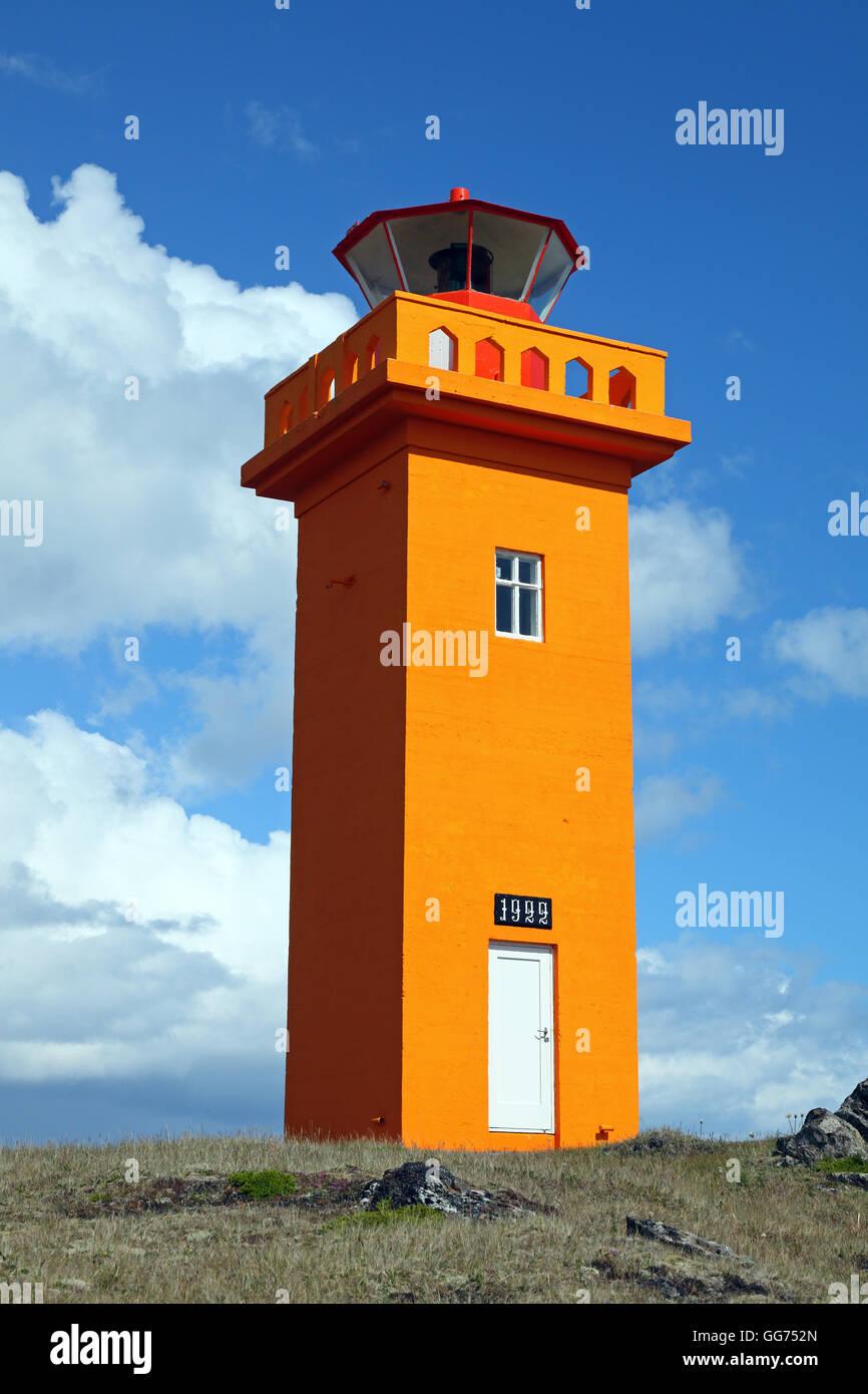Kambanes lighthouse, Iceland - Stock Image