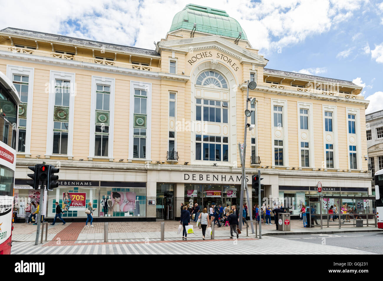 Debenhams Superstore on Patrick Street, Cork, Ireland. Stock Photo