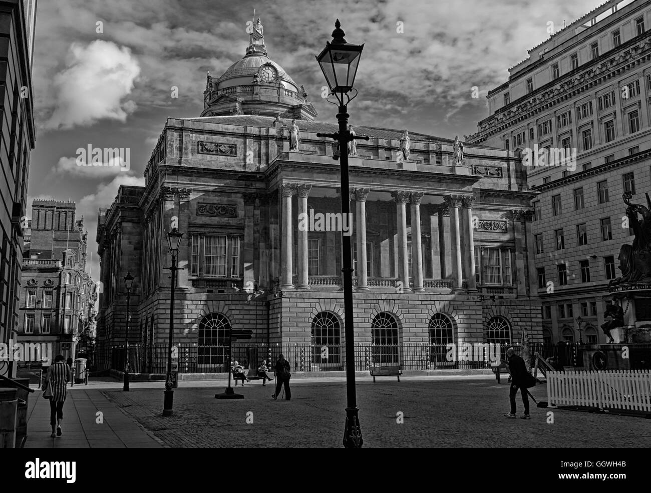 Townhall,Merseyside,Street,building,structure,listed,buildings,18th,century,stone,Lord,Mayors,Mayor,parlour,Council,chamber,local,government,Corporation,James,Wyatt,Castle,Street,tour,licensed,for,weddings,slate,lead,roof,dome,18th Century,Buildings Of England,Town Hall,Dale St,Dale Street,GoTonySmith,@HotpixUK,HotpixUK,United,Kingdom,GB,English,British,domed,clock,square,exchange,flags,mono,BW,Black,White,Buy Pictures of,Buy Images Of,Images of,Stock Images,United Kingdom,Great Britain,Exchange Flags,Black and white