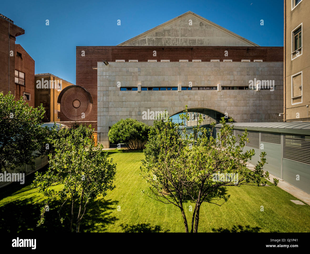 Modern buildings at the Venice hospital. Italy. - Stock Image