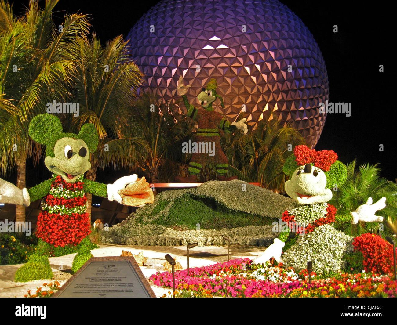 Orlando, Florida, USA. April 29th, 2008. Display for Epcot Flower ...