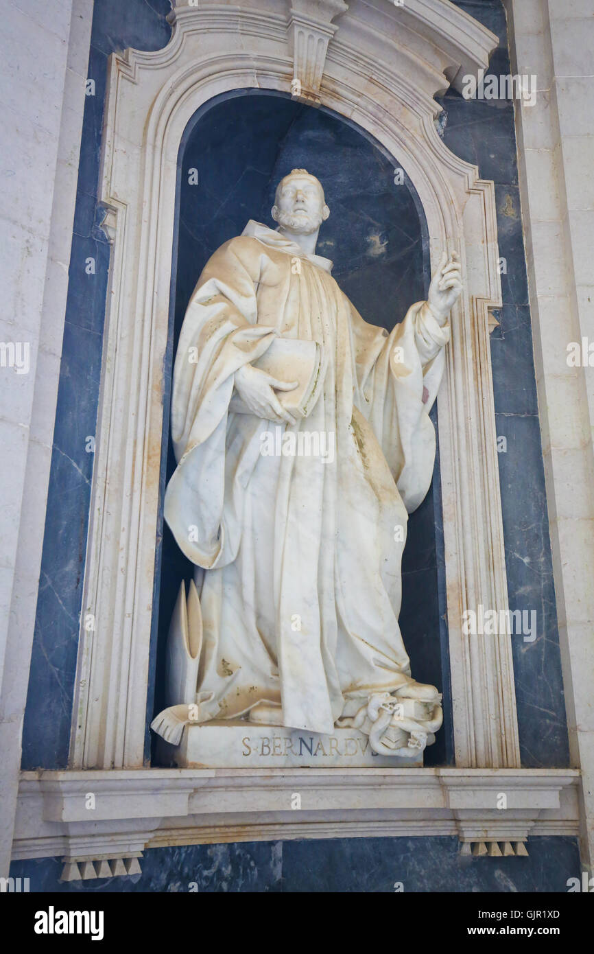 Statue Of Saint Bernard Of Clairvaux A 12th Century French